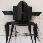 Thierry Laudren - Le grand scarabée, en chêne sculpté teinté.