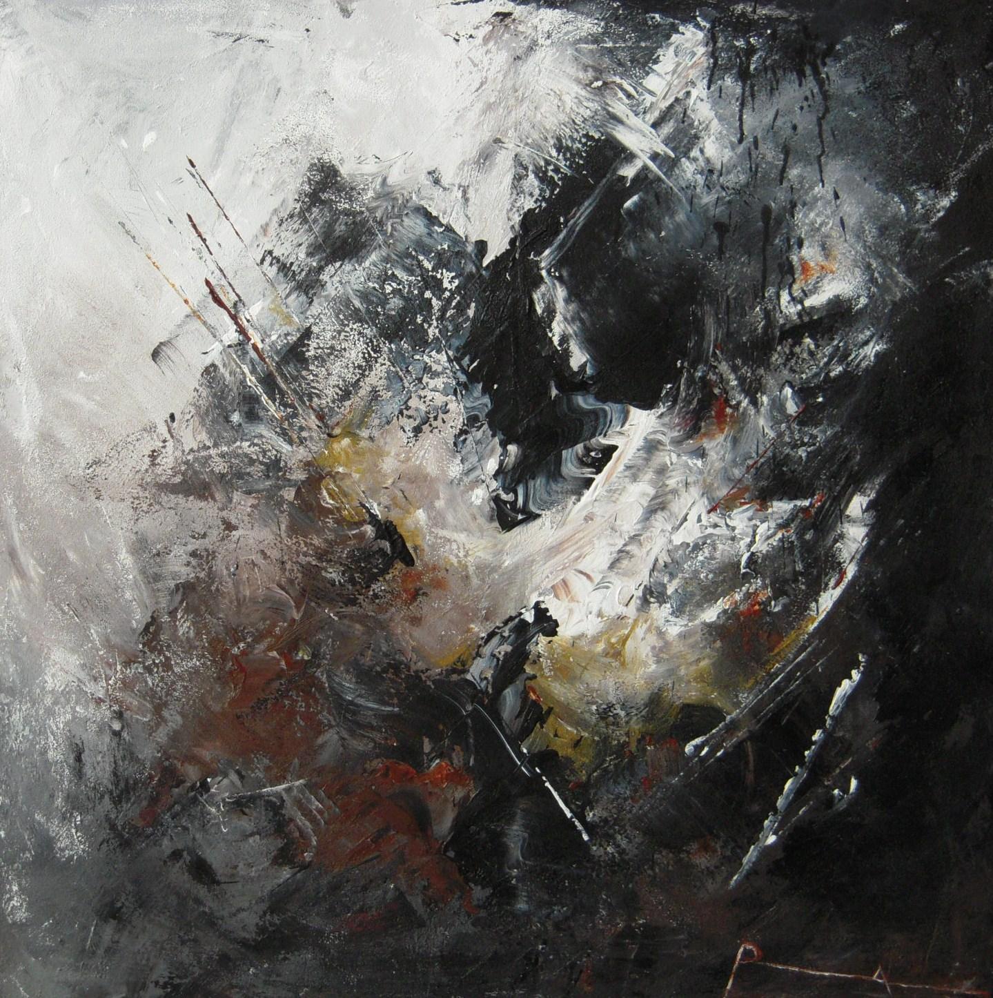 roseline aloumami peintre extase x cm technique mixte sur toile